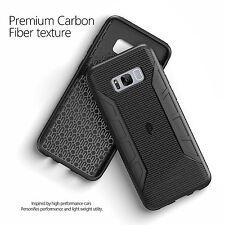 For Galaxy S8 Plus Case Black Poetic【Karbon Shield】Carbon Fiber Texture Cover