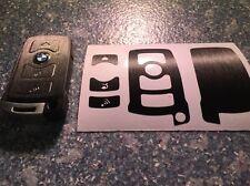 Schwarz Gebürstet Schlüssel Folie BMW Key E67 5er E67  6er 7er E65 E66 E M