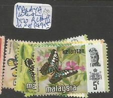Malaysia Kelentan 1970 Butterlies MNH (2cwq)