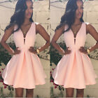Evening Cocktail Mini Dress Women Sleeveless Sexy Short Summer Casual Party