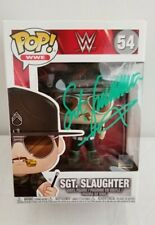 SGT SLAUGHTER GI JOE WWF WWE LEGEND SIGNED AUTOGRAPH FUNKO POP FIGURE W/ COA