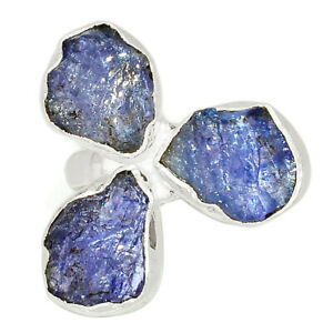 Tanzanite Crystal - Tanzania 925 Sterling Silver Ring Jewelry s.7 BR61160