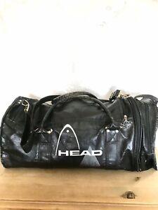 Vintage Retro HEAD 90's Large Black Holdall Sports Weekend Bag (w465)