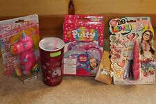 UNICORN LOT 5 Items Gift Thermos Travel Mug Putty Slime Popper Necklace Headband
