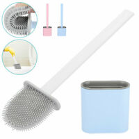 Toilet Brush Silicone Bristles Bathroom Creative Quick Cleaning With Bowl Holder