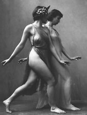 Fine Art Deco Camera Club '30s Photograph Draped Nude Modern Dancers H.R. Cremer