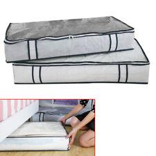 Under Bed Storage Duvet Pillow Clothes Bedding Organiser Bag Easy Access Zip Box