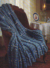 Crochet Pattern ~ RUFFLED RIPPLE AFGHAN ~ Instructions