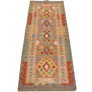 100% Wool Afghan Hand-knotted wall hanging Afghan Runner Rug 170 x 63cm # -10708