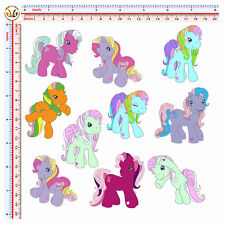 adesivi auto moto casco tuning helmet little pony kit sticker print pvc 10 pz.