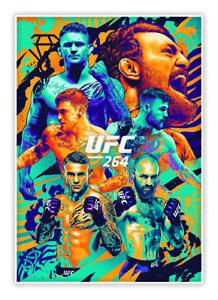 Conor McGregor vs Poirier UFC 264 ARTIST SERIES POSTER CARD ANTHONY PETRIE 2021