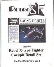 RetroKits Models 1/72 REBEL X-WING FIGHTER COCKPIT DETAIL SET Resin Update Set