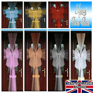 XMAS DOOR MESH BOW Outdoor Decoration FULL LENGTH LUXURY PARTY BOWS ROSE GOLD 🎀
