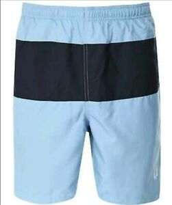 BNWT Fred Perry Swim Shorts XL Panelled Block Sky Blue RRP £60 S3501