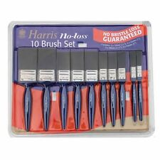 New Harris No Bristle Loss 10 Paint Brush Set Brushes Gloss Varnish Painting