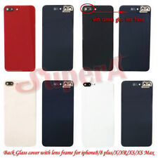 For iPhone 8 8 Plus X XR XS Battery Back Glass Cover Rear Case Housing Replace