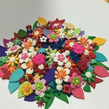 Edible Sugar Flowers & Leaves X 50Mixed Colours, Varieties & Sizes Cake Toppers