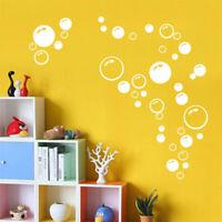 Removable Bubbles Wall Sticker Vinyl Mural Bathroom Shower Tile Decals Decor
