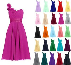 Formal Short Lace Chiffon Prom Party Cocktail Gown Evening Bridesmaid Dress 6-28