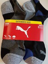 PUMA Men's No Show Low Cut Sports Socks Extended Shoe Size 12-16 6 Pairs