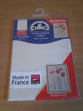 "DMC NEEDLEWORK FABRIC AIDA ECRU 14ct 20"" x 30"" 50cm x 75cm FREE DESIGN & UK P&P"