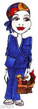 "4"" Loralie nurse central dr doctor head scarf hospital fabric applique iron on"