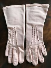 Vintage Long, Pink Women'S Gloves By Gaylon, Small Size, Soft, Great Condition!