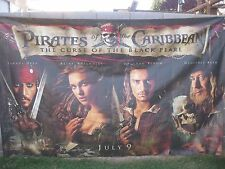 PIRATES OF CARIBBEAN CURSE OF THE.. Original 10X6' US Movie Theater Lobby Banner