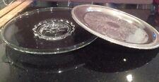 Silverplate Platter & Glass Console