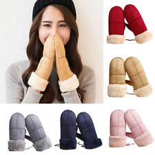 Women Ladies Suede Mittens  Winter  Warm Gloves  Choice of Color