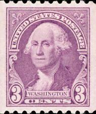 1932 3c George Washington, Coil, Light Purple Scott 722 Mint F/VF NH