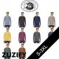 Authentic Pigment Mens French Terry Crewneck Sweatshirt. AP205