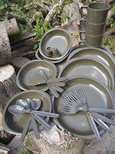 Camping Besteck 26 tg Outdoorset Geschirr BW Militär Armee Teller Tassen Messer