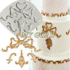 Baroque Ribbons Scroll Border Silicone Fondant Mould Cake Decor Sugarcraft Mold