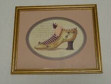 Home Interiors Framed Matted Shoe Picture Ready To Hang