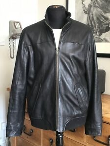 PENGUIN Original XL 44/46' Tall/Long Buttersoft LAMB Real Leather Bomber Jacket