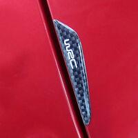 Car Side Door Edge Protection 4Pcs Black Carbon Fiber Guards Trims Stickers