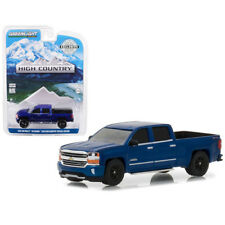 Greenlight 2018 Chevrolet Silverado 1500 High Country Blue 1:64 29938