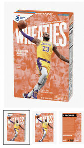 LEBRON JAMES Wheaties Box Los Angeles Lakers 15.6 oz Full Cereal Box