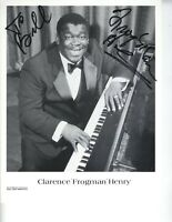 """SIGNED R&B SINGER PHOTO CLARENCE """"FROGMAN"""" HENRY 8X10 AUTOGRAPH"""