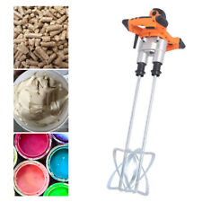 Twin Paddle Electric Mortar Mixer 1400W HandHeld Paint Cement Grout Mixer Usa