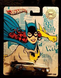 HOTWHEELS * DC COMICS, '69 CADILLAC , FUNNY CAR * BATGIRL !! ALL METAL, RR TIRES
