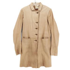 Nigel Preston & Knight Lambskin Trench Coat THE SOFTEST EVER Beige Tan Medium?