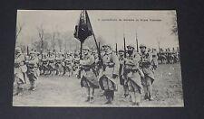 CPA CARTE POSTALE GUERRE 1914-1918 TROUPES FRANCAISES PRESENTATION AU DRAPEAU