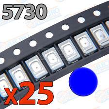 25x LED SMD5730 AZUL 60mA brillo smd 5730 blue