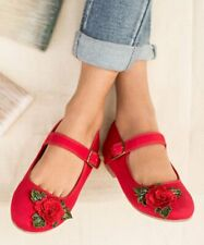 Joyfolie Lola Red Mary Janes Shoes Girls 3 Youth New