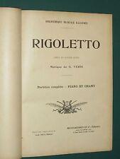 partition complète Piano et chant Rigoletto VERDI
