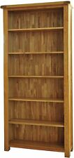 Pendle solid oak living room office furniture large bookcase