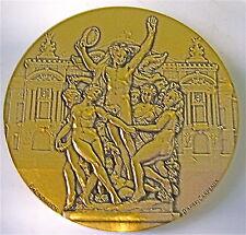 GRANDE médaille  en bronze CINQUANTENAIRE DU CERCLE CARPEAUX signé LINDAUER