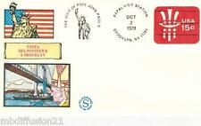 1979**ENVELOPPE,FDC 1°JOUR!**VATICAN-PAPE JEAN PAUL II BROOKLYN**TIMBRE USA